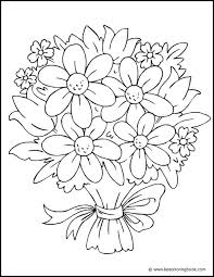 flower bouquet coloring pages kids coloring free kids coloring