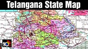 India State Map by Telangana State Map Enters Into India Map 10tv Youtube