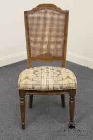 Ethan Allen Chairs by High End Used Furniture Ethan Allen Classic Manor Cane Back Side