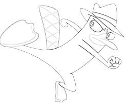 platypus coloring pages perry the platypus kick tubing