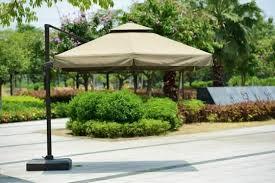 Patio Umbrella Singapore Large 3x3m Roma Cantilever Outdoor Patio Umbrella Parasol With