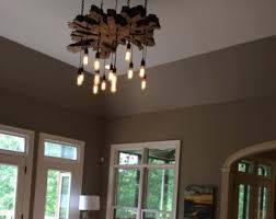 Chandelier With Edison Bulbs Rustic Wood Chandelier 17 Pendant Lights Rustic Light