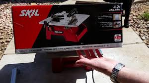 Tile Cutter Rental Lowes by Skil Skilsaw Wet Tile Saw Review Youtube
