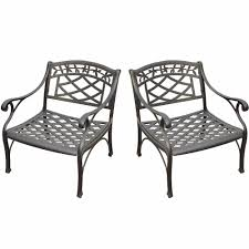 Aluminum Patio Furniture Set - crosley furniture sedona 2 piece cast aluminum outdoor