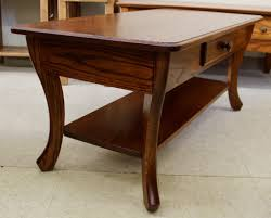 curved leg coffee table with drawer amish traditions wv