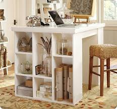 pier one project table this craft desk made out of cubbies or book shelves would make a