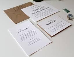 bold modern wedding invitation suite tied u0026 two