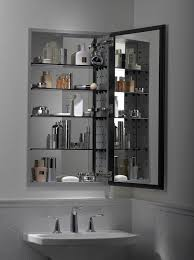 Black Bathroom Mirror Cabinet Bathroom Ideas Large Bathroom Mirror With Shelf Above Single Sink