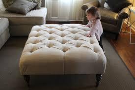 bernhardt upholstered ottoman coffee table round grey