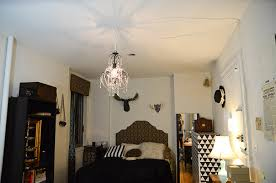Plug In Crystal Chandelier How To Hang A Chandelier For Renters Stars For Streetlights