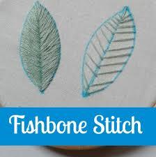Fish Bone Stitch Embroidery Tutorials Bloom And Sew Fishbone Open Fishbone Stitch Stitches For Filling