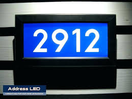 light up address sign lit up house numbers number bus for green by house of department