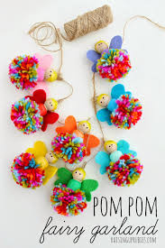 pom pom fairy garland fun crafts kids