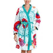 robe de chambre eponge femme desigual peignoir de bains bathr achat vente peignoir
