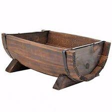 Half Barrel Planter by Wooden Barrel Planter Ebay