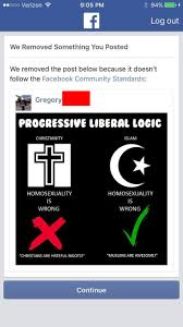 Anti Islam Meme - must see facebook removes libertarian page after it posted this