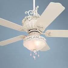 pretty white ceiling fan cannot go with out a fan in my bedroom but a chandelier would be