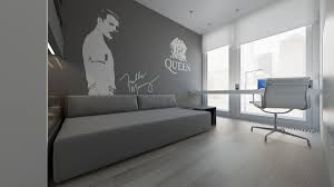 minimalist apartment interior design with gray color paint ideas