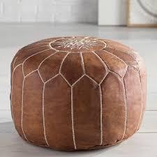 dark brown storage ottoman brilliant leather ottomans youll love wayfair in brown leather