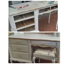 french provincial desk vanity makeover hometalk