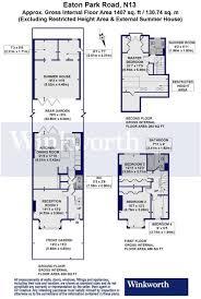 4 bedroom terraced house for sale in eaton park road london n13 n13