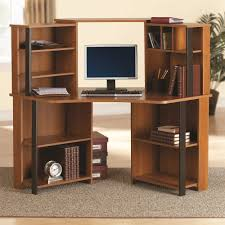 Desk In Corner Mainstays Corner Work Station Inspire Cherry Black Finish