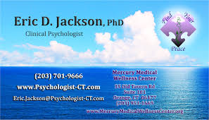 Hypnotherapy Business Cards Dr Eric Jackson Psychologist Orange Ct 06477 Psychology Today