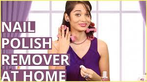 diy nail polish remover at home using perfume lemon juice and