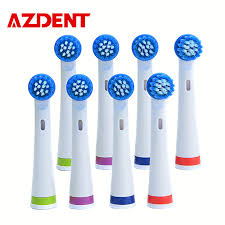 blue light whitening toothbrush 2017 azdent 8 pieces lot electric toothbrush heads suit for top