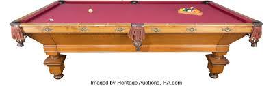brunswick monarch pool table a brunswick balke collender oak pool table marks to lot 61104