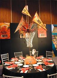 basketball theme centerpiece totally awesome centerpieces and