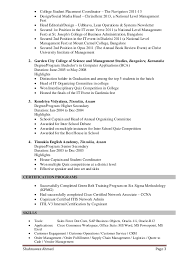Supply Chain Management Skills For Resume Resume Of Shahnawaz Ahmed Supply Chain Customer Service Mba