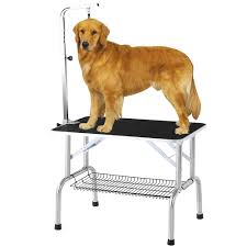 dog hair cutting table ikayaa 32 portable folding pet dog grooming table w arm noose
