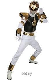 white ranger costume power rangers halloween cosplay replica