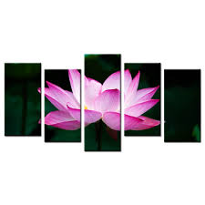 high quality lotus flower paintings buy cheap lotus flower home decoration painting wall art contemporary lotus flower printed poster canvas wall pictures kids room decor