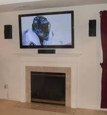 interior wall mount tv over fireplace inside breathtaking