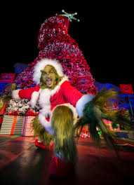 The Grinch Christmas Lights Los Angeles Mayor Eric Garcetti Joined U0027the Grinch U0027 To Light The