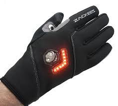 bike gloves amazon com zackees led turn signal bike lights in a cycling