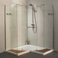 small bathroom walk in shower no door chrome round wall mounted