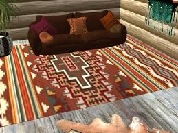 American Furniture Rugs Second Life Marketplace Tahoe Rug Brown Native American Style
