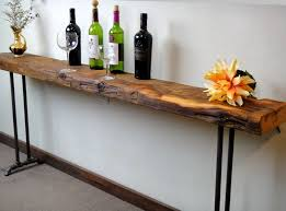 salvaged wood console table reclaimed wood console table sofa table new hairpin or pipe legs