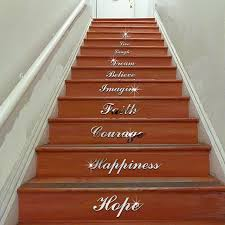 english words stairs wall sticker home mirror decal art living