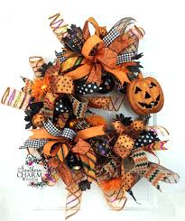 How To Make Halloween Wreath How To Make A Whimsical Halloween Door Swag Wreaths Doors And