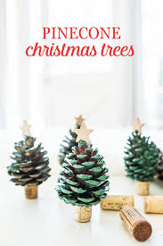 these pinecone christmas trees will brighten your home tree