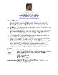Sample Resume For Adjunct Professor Position Sample Cv Nursing Faculty
