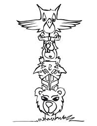 free coloring pages of totem pole ber painting and drawing