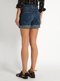 current elliott the boyfriend low slung rolled shorts womens dark