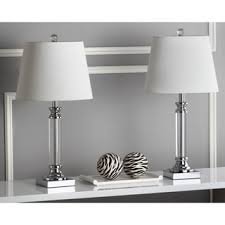 Black And Crystal Table Lamps Safavieh Lighting 23 Inch Imogene Crystal Table Lamps Set Of 2