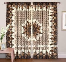 Grateful Dead Curtains Bohemian Indian Mandala Bedroom Curtains Brown Dorm Room Drapes