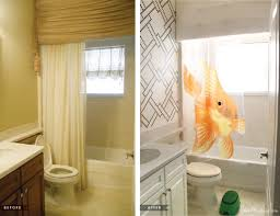 Kids Bathroom Makeover - stenciling and kids bath makeover house mix